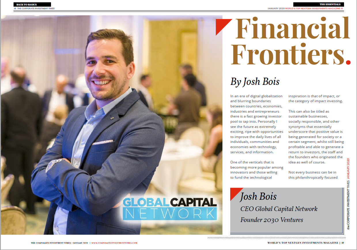 Corporate Investment Times – Josh Bois on Impact Investing